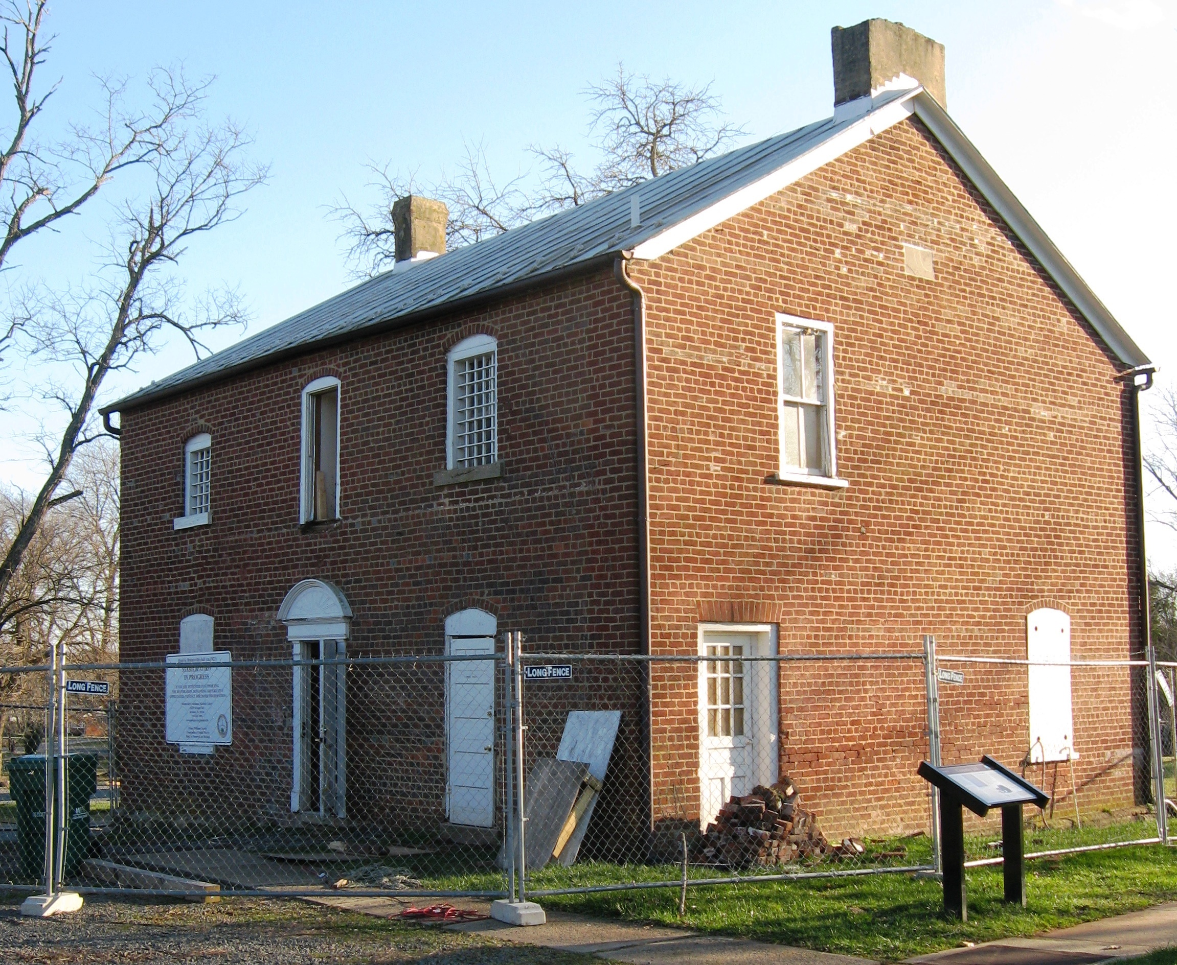 Brentsville Jail House Restoration